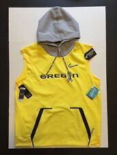 Nike Therma Oregon Ducks Stomp Cancer Freestyle Vest Hoodie mens Size L