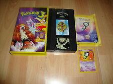 POKEMON 3 + TARJETA UNOWN J ANIMACION EN VHS DEL AÑO 2001 EN BUEN ESTADO