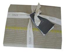 West Elm Luxe Rivulet Stripe King Duvet Cover -flax