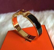black and gold Stylish Stainless Steel Anti allergic H shaped Buckle Bracelet