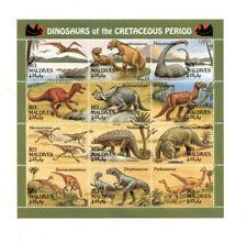 VINTAGE CLASSICS - MALDIVES - 9422 Dinosaurs Sheetlet of 12 Stamps  - MNH