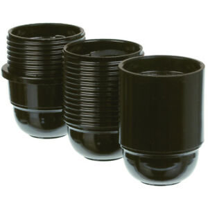 Lampen Fassung E27 Schwarz mit Schraubanschluss 250V Lampenfassung