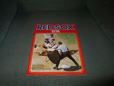 1974 BOSTON REDSOX OFFICIAL YEARBOOK/FISK/MUNSON
