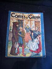 """Album ancien """"Contes de Grimm"""" - Adaptation par R. Duprez - Gordinne 1936"""