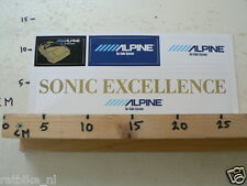 STICKER,DECAL ALPINE CAR AUDIO SYSTEMS LARGE