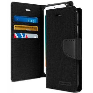 For iPhone 6 PLUS 6S PLUS Premium Denim Canvas Diary Flip Wallet Card Case Cover
