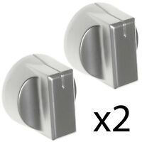 STOVES 444448194 444448195 444448196 Oven Hob Switch Knob Nickel / Silver x 2