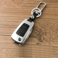 Black alloy 5 Buttons Leather Flip Remote Key Cover Holder Fob for Chevrolet GMC