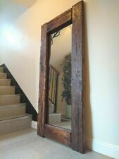 Gorgeous Large Full Length Rustic Reclaimed Wood Floor Mirror