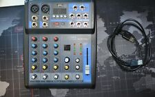 Audio2000'S Amx7321 4-Ch Audio Mixer w/Usb Interface, Bluetooth, Sound Effect