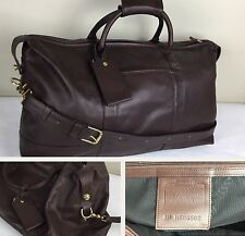 COACH Duffle Bag Carry-On Luggage Cabin Travel Leather Shoulder Weekender Brown