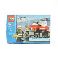 Lego City Fire Car 7241 Fireman Minifigure Building Toy 46 Pieces