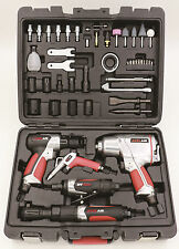 EXELAIR 50-Piece Pro Air Tool Kit - Includes Impact,Ratchet,Grinder,Hammer+Accs