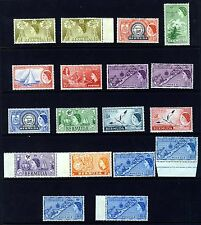 BERMUDA 1953 a Part 1953 Definitive Set SG 135 to SG 145 MINT