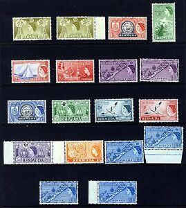 BERMUDA 1953 a Part 1953 Definitive Set SG 135 to SG 145 MINT