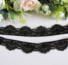 3.5 cm width Exquisite Black Venise Lace Trim