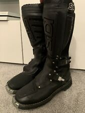SIDI ADVENTURE / TOURING Black Leather Motorcycle / Motorbike Boots Size UK 11