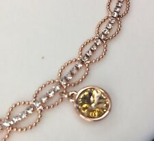Equilibrium Rose Gold Plated Choker Necklace SPARKLE diamante CZ display box