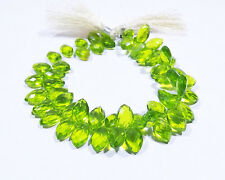 Peridot  Hydro Quartz Faceted Shape Marquise Beads 7 Inch Strand 7x12mm