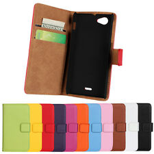 For Sony Xperia J ST26i New Genuine Leather Wallet Case Phone Cover Protector