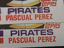 PASCUAL PEREZ 1982 Topps Baseball ERROR #383 Color BLOTCHED Variation OddBaLL SP