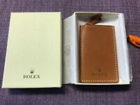ROLEX Stainless steel double-sided leather cover mirror With original box