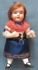 Vintage bisque girl doll in traditional European dress; movable arms & legs (7)