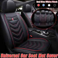 Universal Car Front Seat Mat Covers PU Leather Breathable Cushion Pad Cushions
