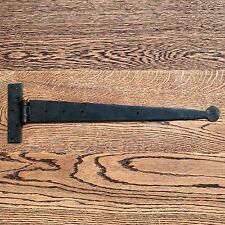 COPPIA da 24 Pollici T Cerniere Tee Cerniera Cinturino Cerniere Nero Vintage ferro battuto Penny