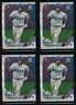 Lot of (4) WANDER FRANCO 2019 1st Bowman Chrome Prospect Rays Rookie Card RC QTY