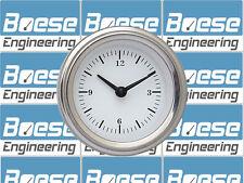 """Classic Instruments 2 1/8"""" White Hot Quartz Clock WH90SLF"""