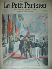 PRESIDENT LOUBET EN RUSSIE MARTINIQUE VOLCAN SAINT-PIERRE LE PETIT PARISIEN 1902