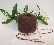 YARN, Bear Brown Yarn, Dark Brown Soft Yarn Brushed Acrylic Lace Weight Yards #C
