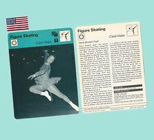 1977 Sportscaster Usa Rencontre Card Carol Heiss World Champion Ice Skater - Nm