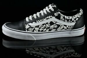 Vans Mens Nightmare Before Christmas Sneakers Size 12M White/Black Leather Shoes