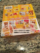 RE-MENT Set of 8 san-x Rilakkuma supermarket, 1:6 Barbie kitchen food miniatures