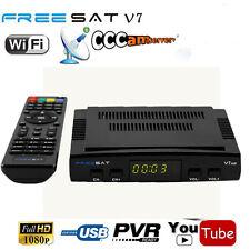 DVB-S2 Sat-Receiver USB HDTV HD-Reseiver HDMI-Kabel FullHD Freesat V7 oW