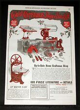 1929 OLD MAGAZINE PRINT AD, UP-TO-DATE HOME-CRAFTSMAN SHOP, FINE CRISTMAS GIFT!