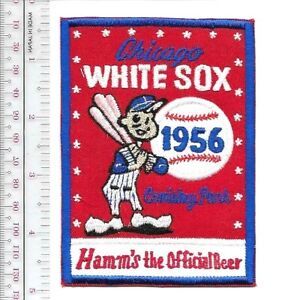 Beer Baseball Chicago White Sox & Hamm's Beer 1956 American League Promo Patch