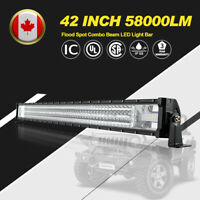 42 Inch LED Light Bar 580W LED Work Light Pod Auxiliary Offroad Driving Lights
