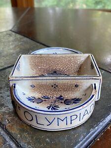 ANTIQUE IX OLYMPIADE 1928 AMSTERDAM OLYMPICS ASHTRAY CERAMIC ULTRA RARE SIGNED!