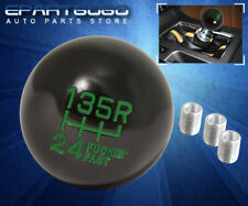 For Nissan 6Spd F'Ing Fast Engraved Pattern Round Ball Type Shift Knob Lever Gr