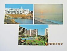 Spain, (3) postcards, city scenes, posted, nice stamps