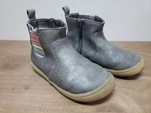 Toddler Girls Cat & Jack Grey Pewter Boots Booties Size 9