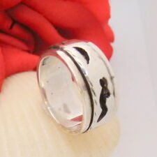 1241.Chicer Drehring Silber Ring aus 925 Silber RG 57 (18,1 mm Ø) 9,7 mm breit