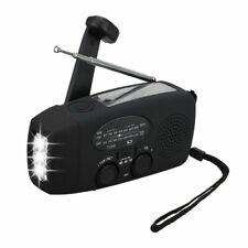 Emergency Solar Hand Crank Dynamo AM/FM/WB Radio & LED Flashlight USB Charger US