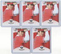 (5) CARDS 2018 Leaf Baseball Shohei Ohtani RC ROOKIE LOT #LB-01 ANGELS MINT!