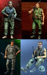 1/35 Resin Nam War US 4 Soldiers Officers Kit unpainted unassembled QJ123