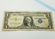 1957 A Blue Seal $1 One Dollar Silver Certificate Bill - Old Paper Money