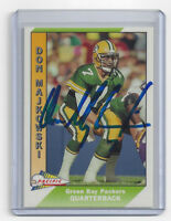 1991 PACKERS Don Majkowski signed card Pacific #160 AUTO Autographed Green Bay